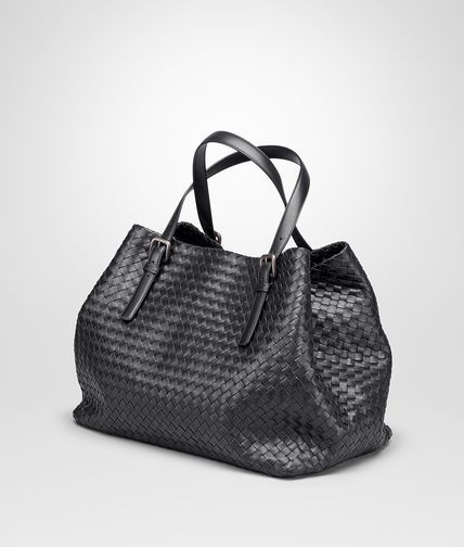 35d2837922d BOTTEGA VENETA LARGE TOTE BAG IN NERO INTRECCIATO NAPPA Tote Bag D ...