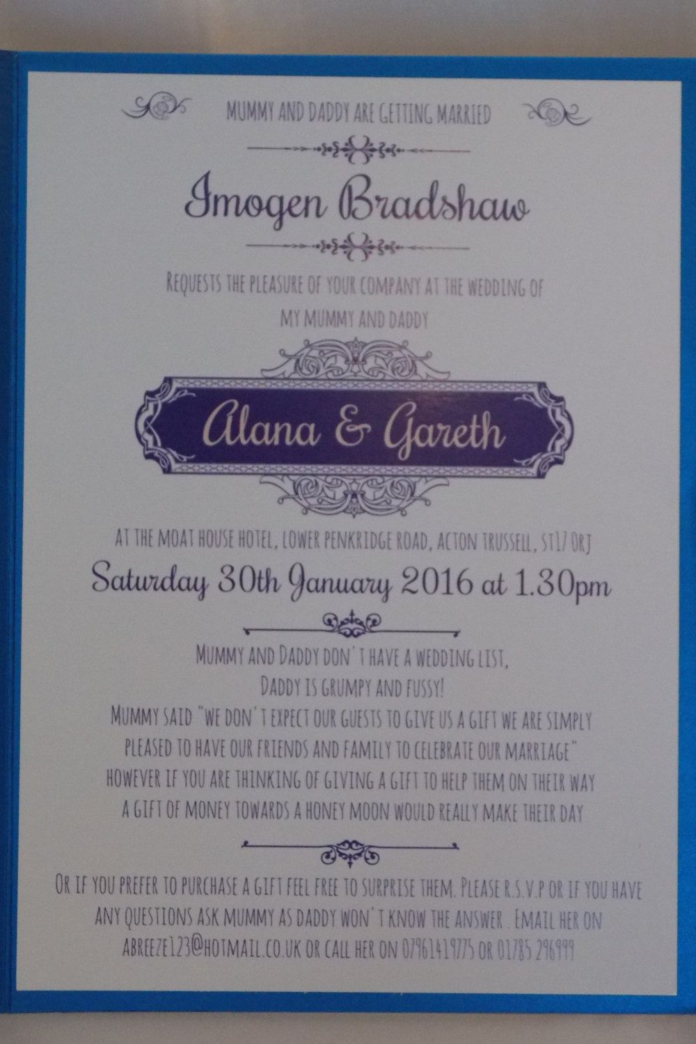 Traditional Pocket Fold Wedding Invitation Set