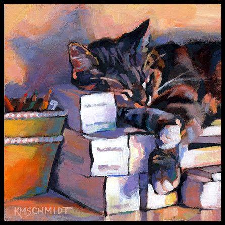Dreaming In Color In 2020 Cat Painting Animal Art Watercolor Cat