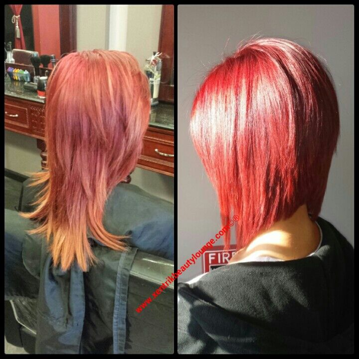 Red Hair. Angled Bob. | Hair Cut and Color Ideas ...