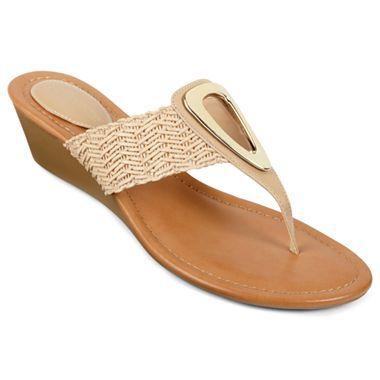 1ab30b0bb6f8 Liz Claiborne Doddie Thong Sandals - jcpenney