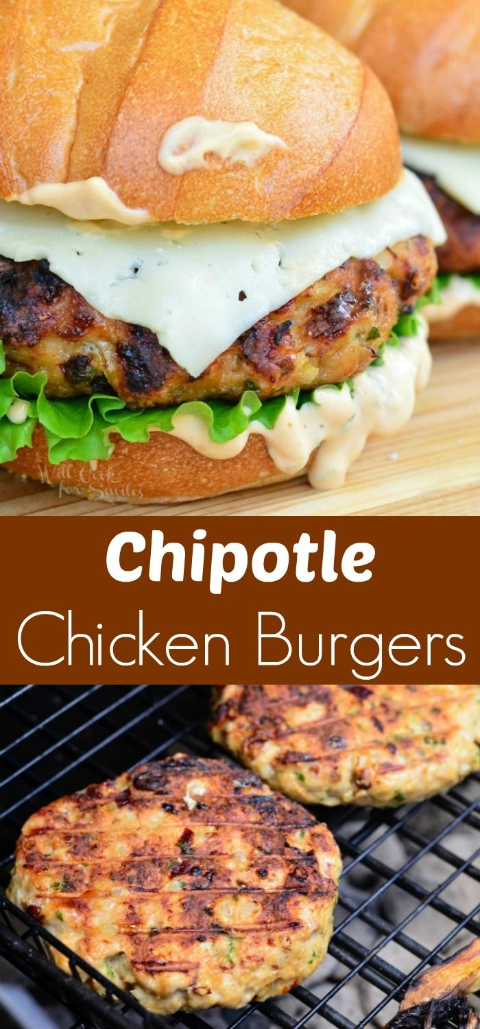 Spicy Chipotle Chicken Burger. Wonderful, flavorful, juicy burger perfect for weekend barbecuing or a weeknight dinner. #burger #chicken #sandwich #grilling