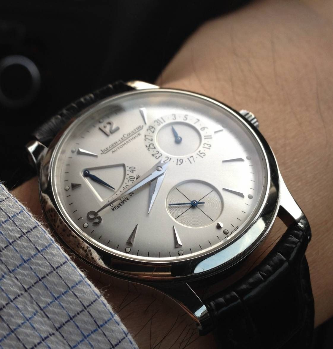 """omegaforums: """" Superb Jaeger LeCoultre Reserve De Marche In Stainless Steel """""""