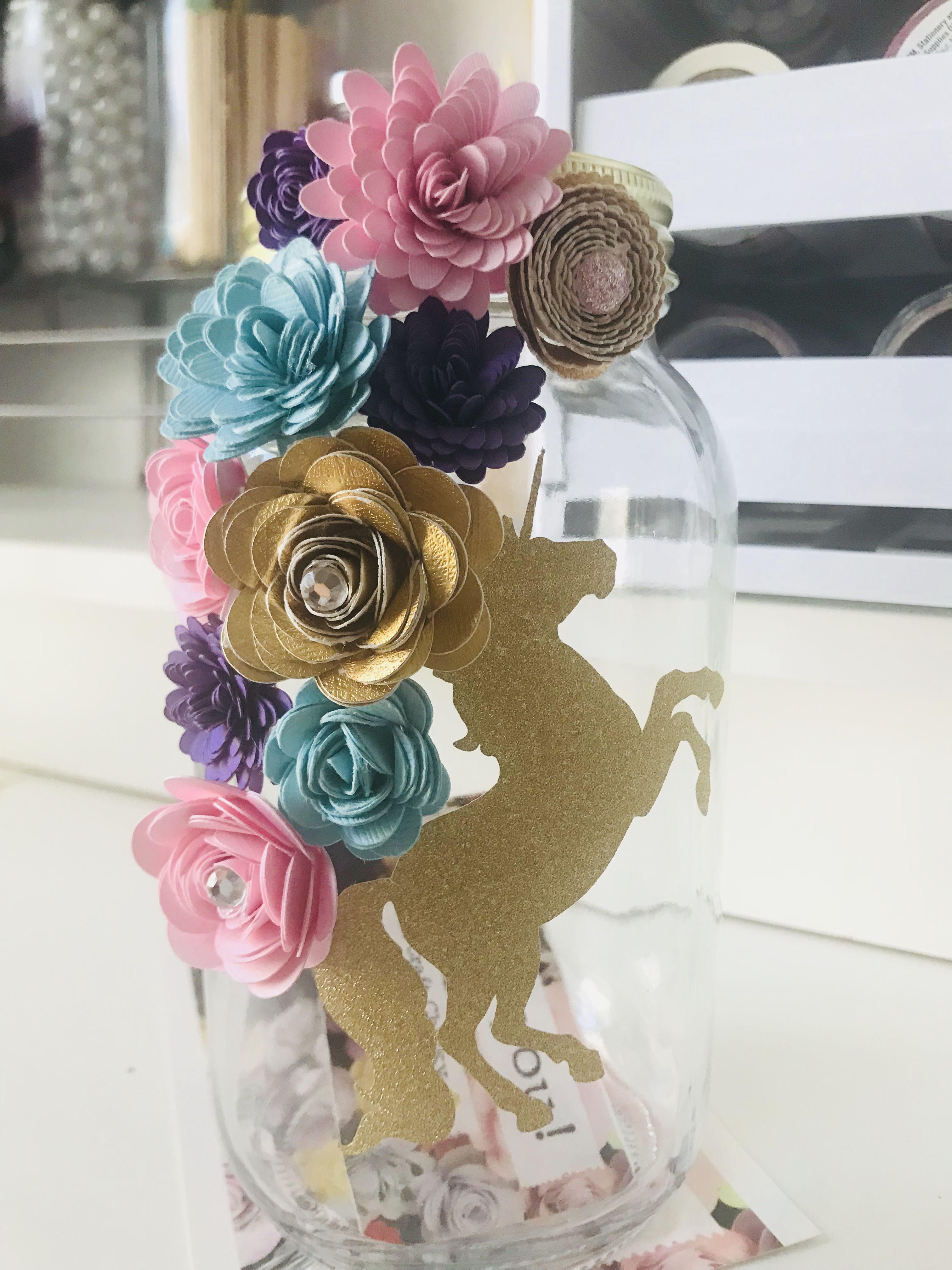 Unicorn Flower Jars Unicorn Masonjar Center Pieces Home
