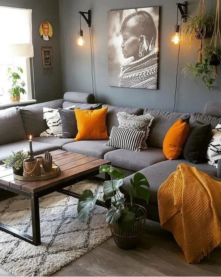 35 Inspiration And Ideas In 2020 Living Room Orange Living Room Decor Apartment Home Living Room #orange #and #grey #living #room #decor