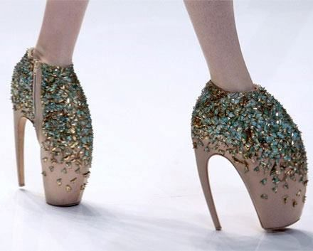 Lady Gaga's claw shoes