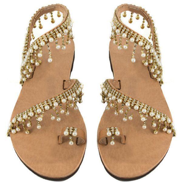On Sale Crystal Sandals Pearl Sandals Boho Chic Bridal