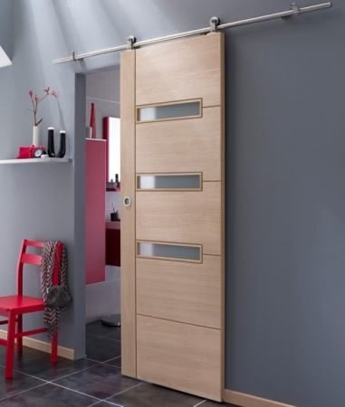 porte coulissante en bois massif apto puertas. Black Bedroom Furniture Sets. Home Design Ideas