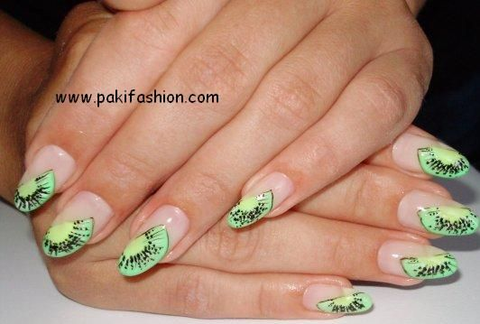 Green Can Be Considered A New Trend In The Nail Art Designing The