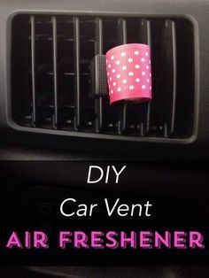 Love using essential oils? Check out this DIY car vent air freshener. Its great for using all your favorite essential oils.