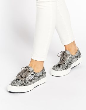 3f1cd6850237 Superga Snake Print Plimsoll Trainers