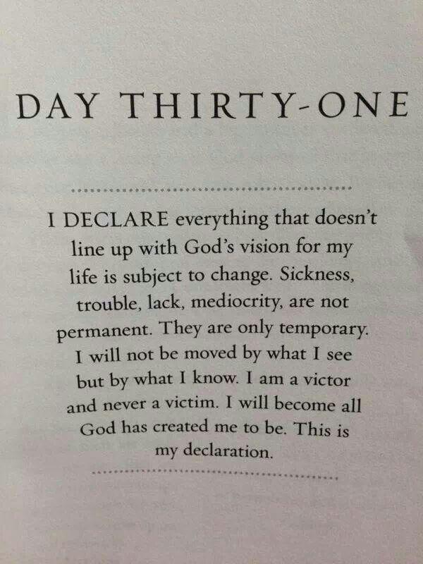 I declare! Day #31 | I Declare      | Daily prayer, Names of jesus