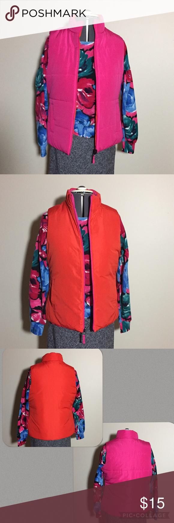 Orange & Pink Reversible Puffer Vest Merona Orange & Pink