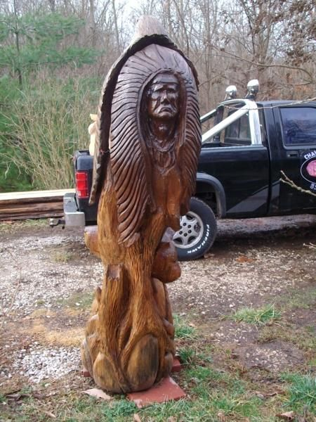 Harley dougherty chainsaw artist native american