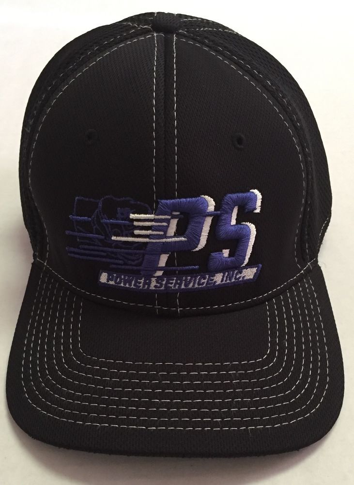 da9c06a2db7 Power Service Inc Fitted Hat L XL Casper Wyoming Oilfield Oil Baseball Cap  WY  BushWellsSportingGoods  BaseballCap