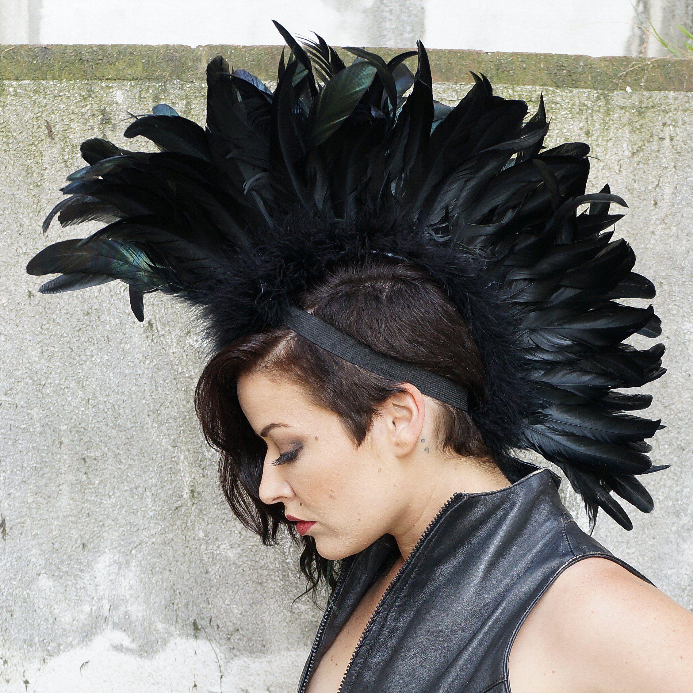 Feather mohawk coque black