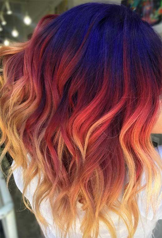 55 Glorious Sunset Hair Color Ideas for True Romantics