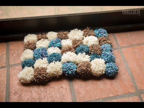 C mo hacer una alfombra de lana homehome pinterest for Alfombras hechas con lana