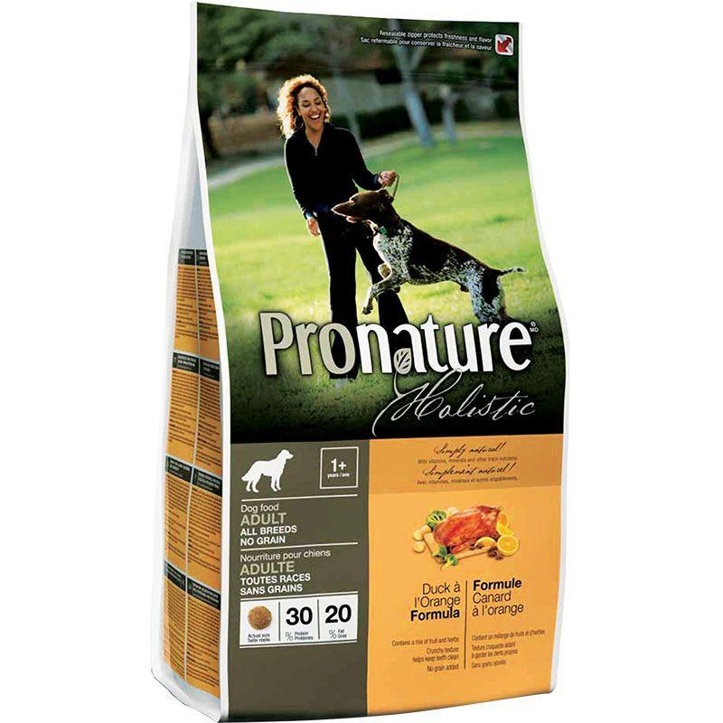 Pronature Holistic No Grain Duck Orange Adult Dog Food Organic