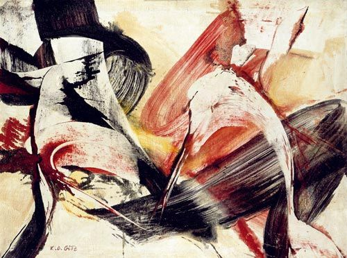 Karl Otto Götz / Painting from 14.09.1954 / oil on canvas