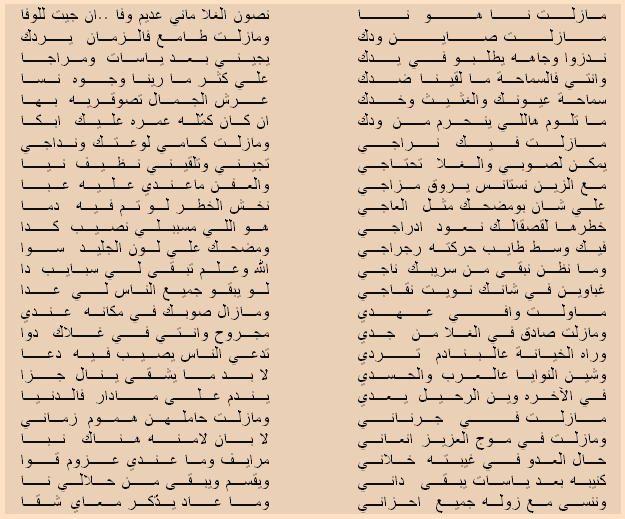 مازلت نا هو نا رد الشاعر عبد الرحمن بو امغي ب الصنقري Texts Libya Sheet Music