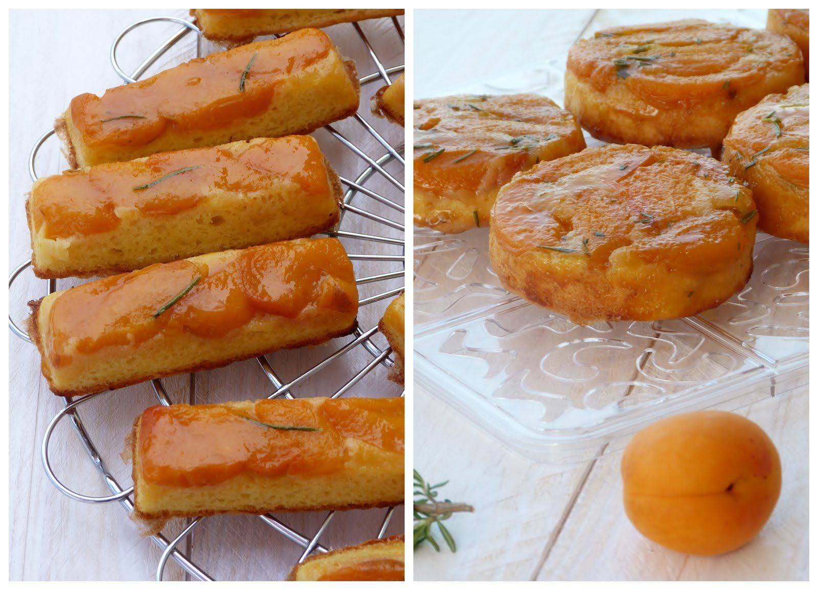 Chic, chic, chocolate ... Cake reversed with apricots and rosemary