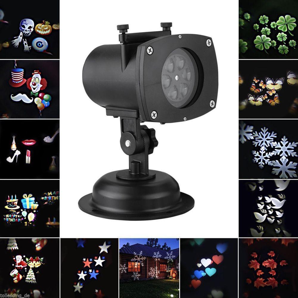 LED Laser Star Christmas Home Garden Light Sky Shower