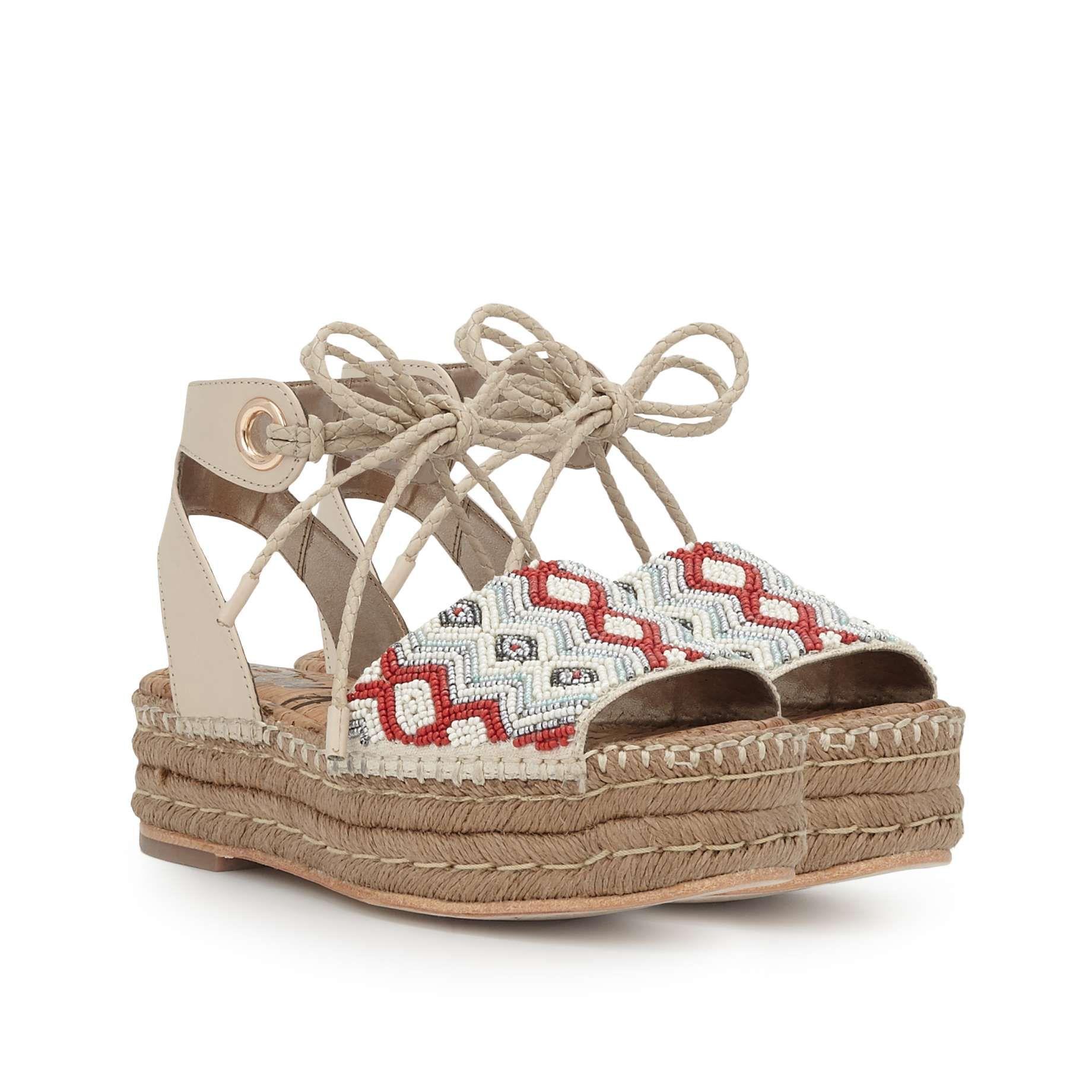 Neera Beaded Platform Espadrille Sandal