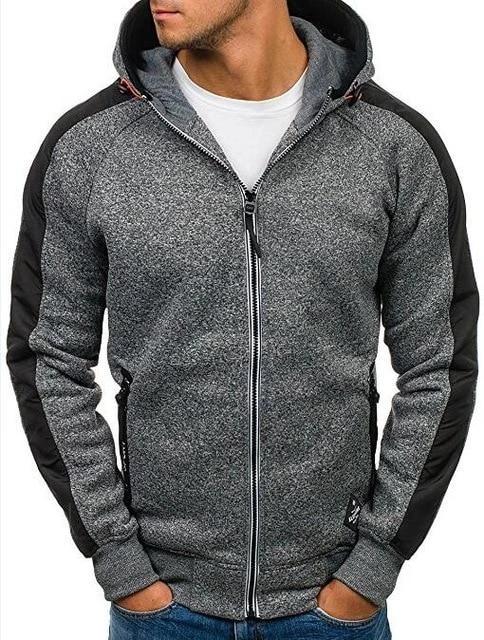 Mens Fleece Jacket Full Zip Long Sleeved Thick Warm Winter Top Unbranded Hooded