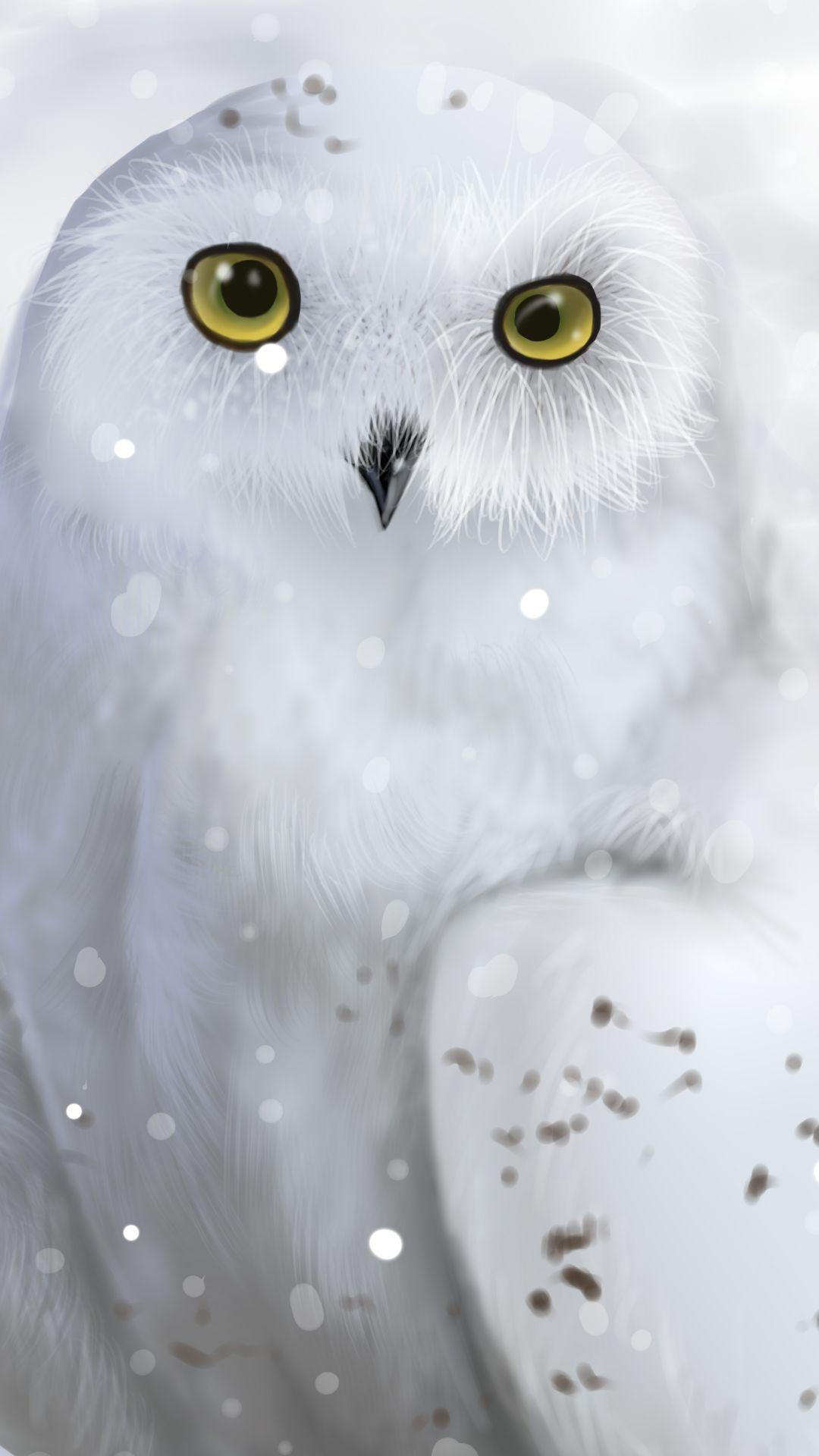 Owl Screensaver : screensaver, Snowy, (1080x1920), Mobile, Wallpaper, Wallpaper,, Drawing