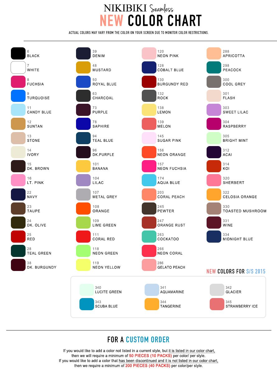 Nikibiki Color Chart Www Facebook Com Shawnshops Nikibiki The Best Tank On The Market Google This Item I Cool Tanks Color Chart Credit Cards Accepted