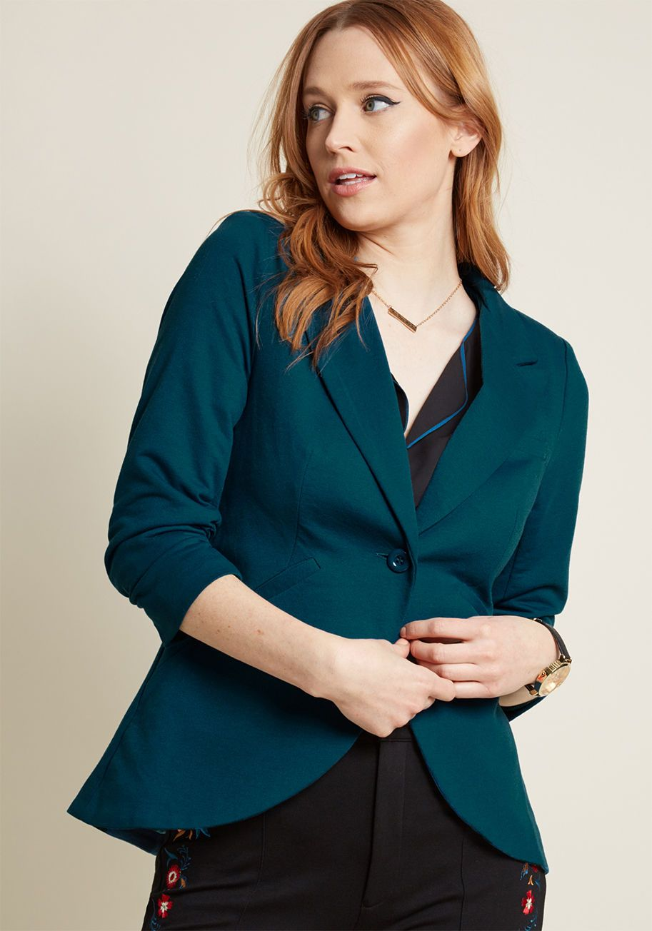 165392fe28cc Fine and Sandy Blazer in Grey - No need to roll up your sleeves before the  big meeting - this grey blazer boasts ruched 3/4-length sleeves for a look  that ...