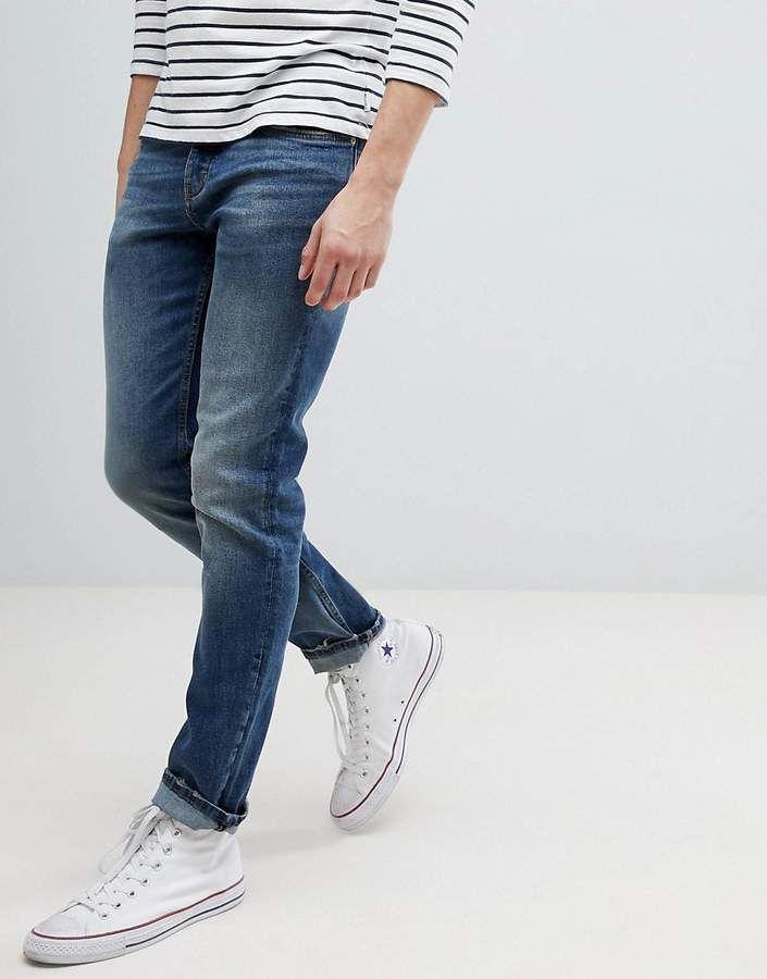 Man Slim Jeans In Darkwash Blue - Blue Mango Visa Payment Online fHFlNfx3