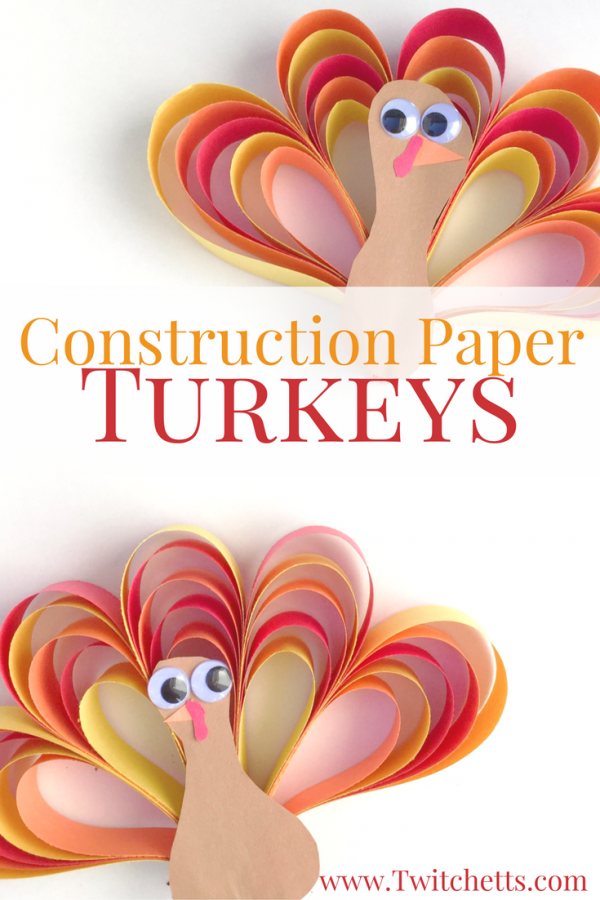 How To Make An Easy 3d Construction Paper Turkey Craft Twitchetts