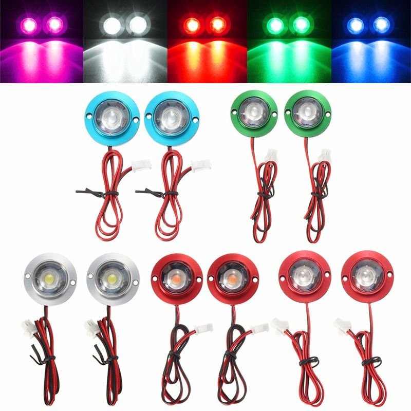 2pcs Lot Car Motorcycle Led Strobe Flash Warning Light Brake Light Spotlights Fish Eye Lens Lamp Blue Green Red White P Led Strobe Warning Lights Fish Eye Lens