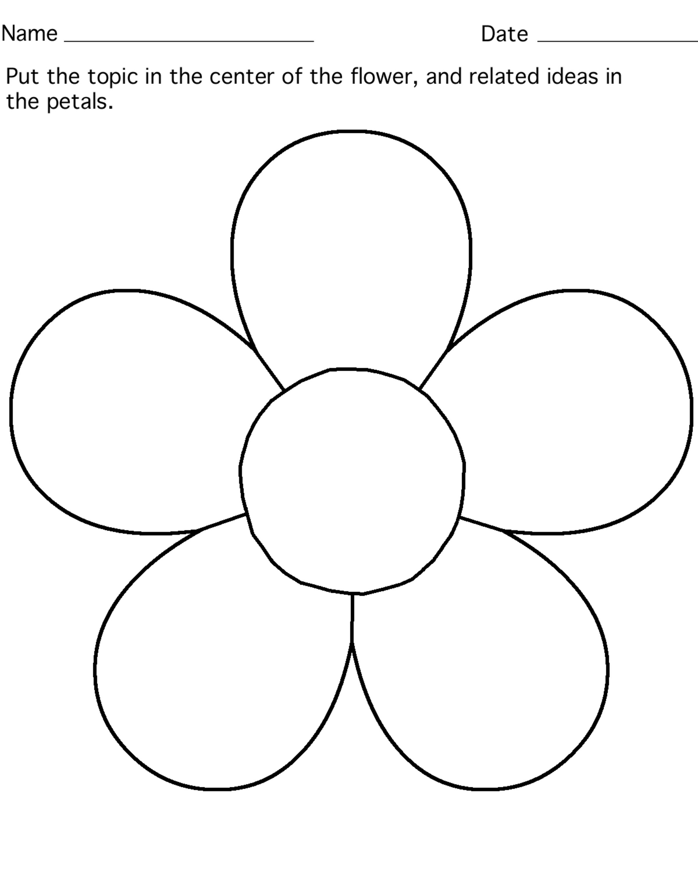 Flower Template - Kids Learning Activity | Flower petal ...