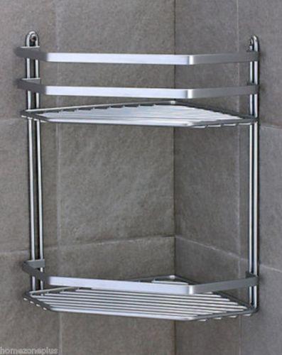 Onkuey Sus 304 Stainless Steel Bathroom Corner Shower Caddy Basket Wall Mount Brushed Nickel 2 Tier Shower Caddy Corner Shower Caddy Stainless Steel Bathroom