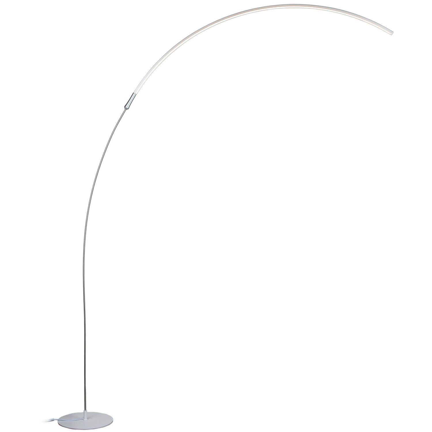 Brightech Sparq Led Arc Floor Lamp Curved Contemporary Minimalist Lighting Design Warm