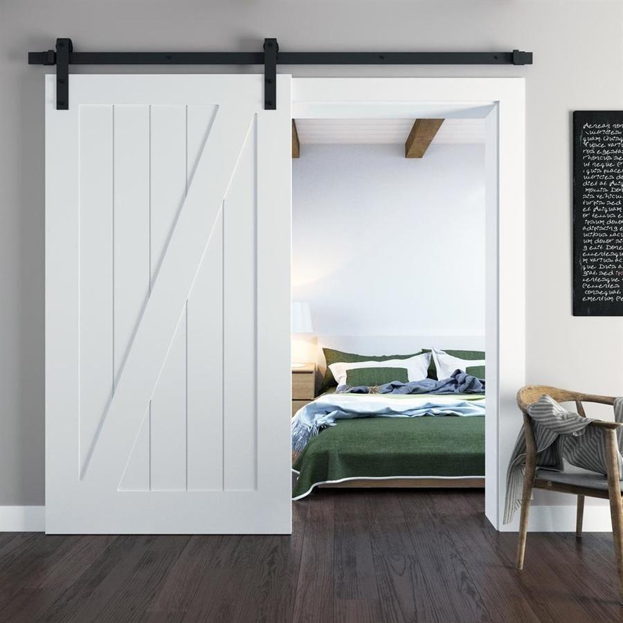 Urban Woodcraft Z Panel Door 40-in x 83-in White Prefinished…