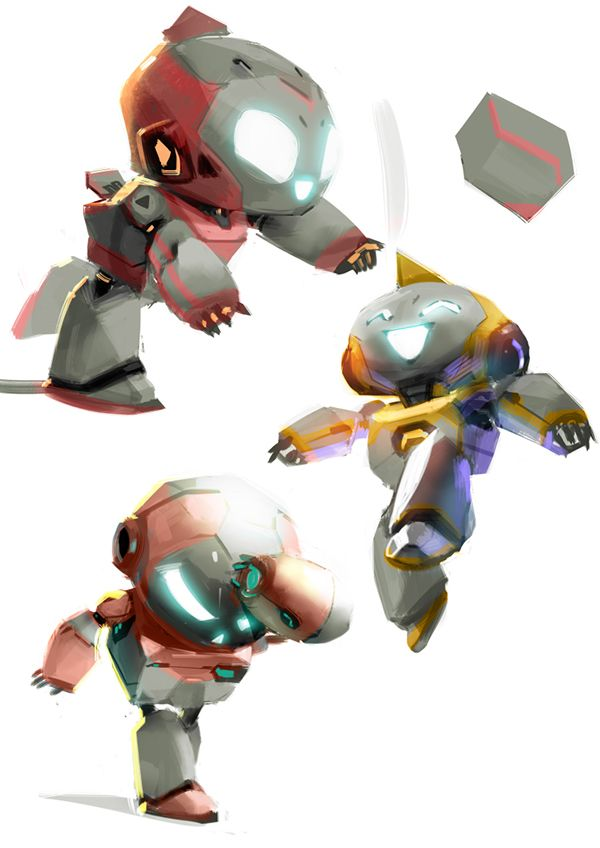 Eduardo Fornieles: We robot.PC game on Behance