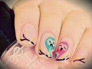 Estas son aves paradas en una rama...¡Para!¿¡Estan pintadas en uñas!?Sí, hasta tú las puedes hacer en tus propias uñas, probá, pintá y creá.