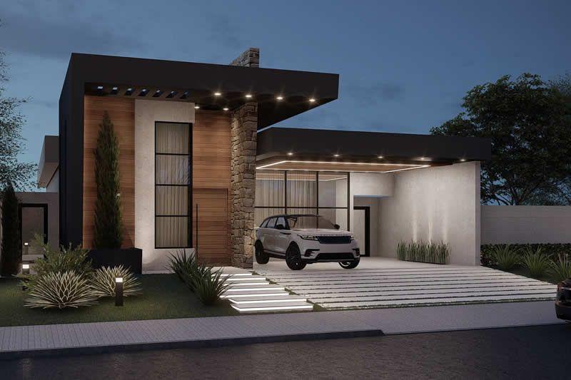 Proyecto de casa termal con 3 suites Planos de Casas
