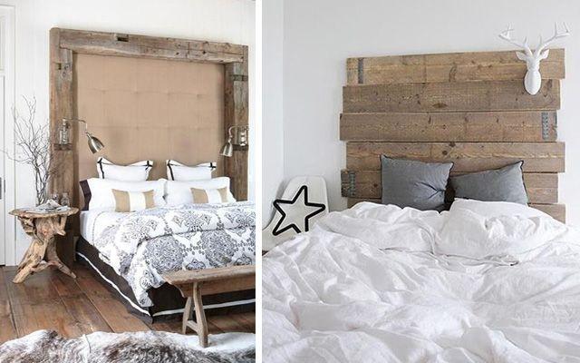 Decoración de dormitorios con cabeceros de madera - Decofilia