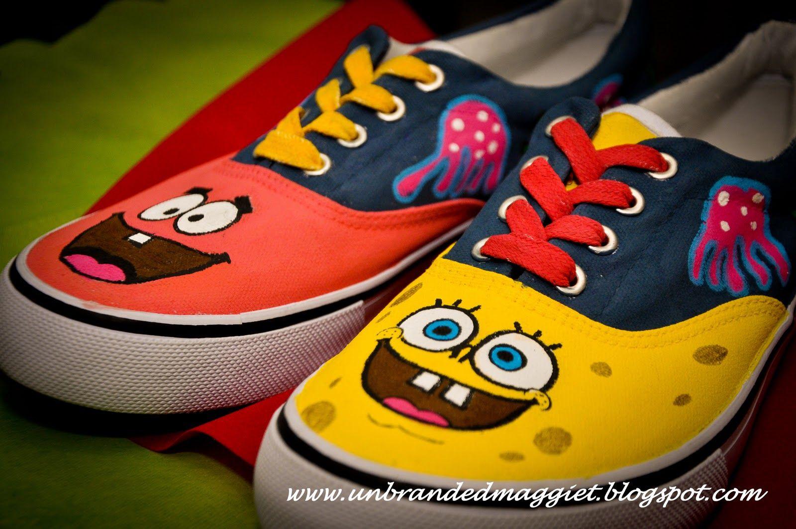 09e113250f0e4 Spongebob vans!!!! | Dream closet | Hand painted shoes, Custom shoes ...