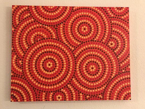 Une peinture à la main point 24x30x1.5.