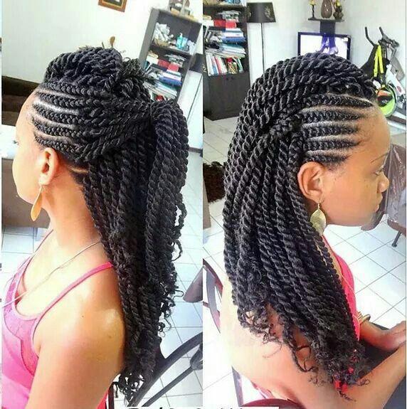 19 Fabulous Kinky Twists Hairstyles   Cornrow, Beach hair and Nice ...