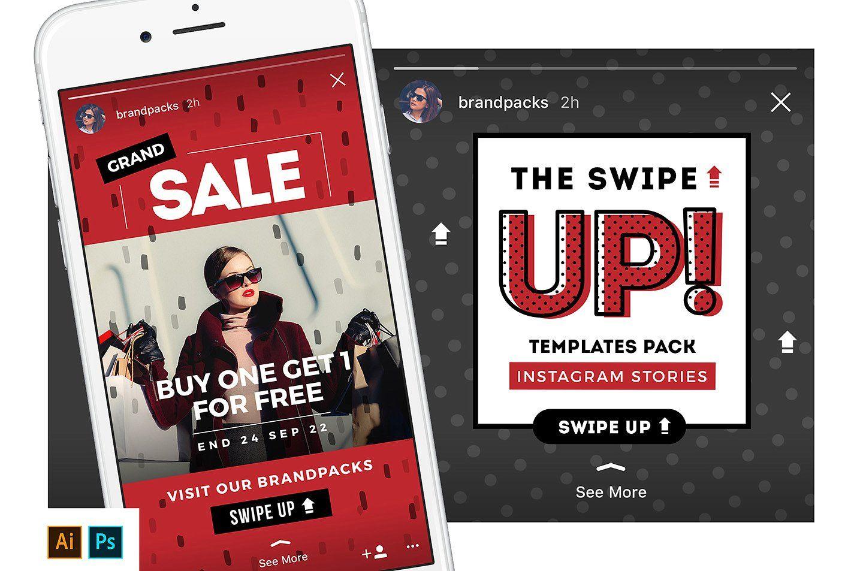 Swipe Up Instagram Stories Pack Instagram Story Template Instagram Story Promotional Design