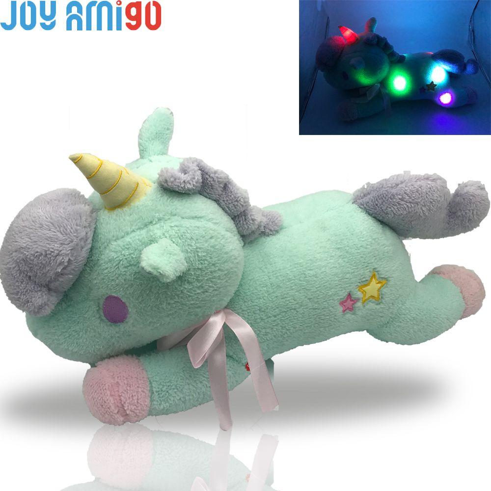 New Luminous Stuffed Unicorn Toy Led Light Up Plush Doll Glow Pillow