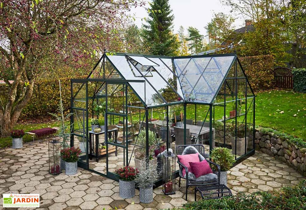 serre de jardin en aluminium et verre