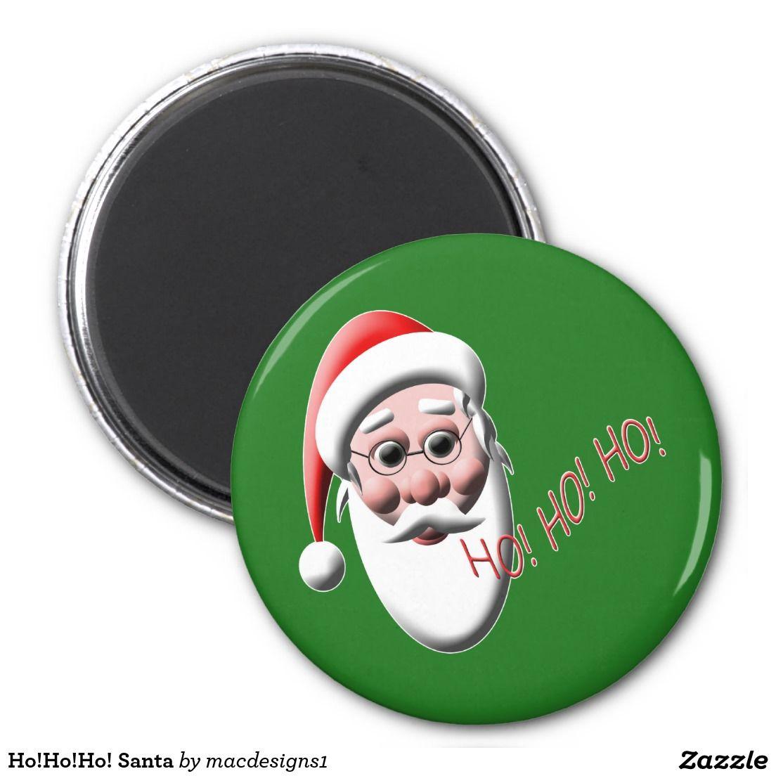 hohoho santa 2 inch round magnet - Santa Hohoho 2
